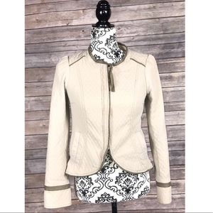 Free people quilted bomber jacket size 2 full zip